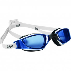 Michael Phelps XCEED Blue Lens Men's Goggles Blue & White
