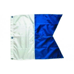 "Innovative 31 x 36"" Alpha (International Maritime Signal) Nylon Dive  Flag"