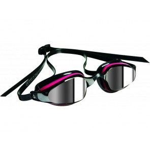 Aqua Sphere MP K180 Dark Mirror Lens Mens Goggle Black & Pink