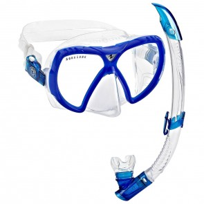 Aqua Lung Visionflex LX + Airflex purge LX Snorkeling set (Made in Italy) Blue